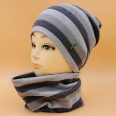Трикотажный комплект шапка\снуд
