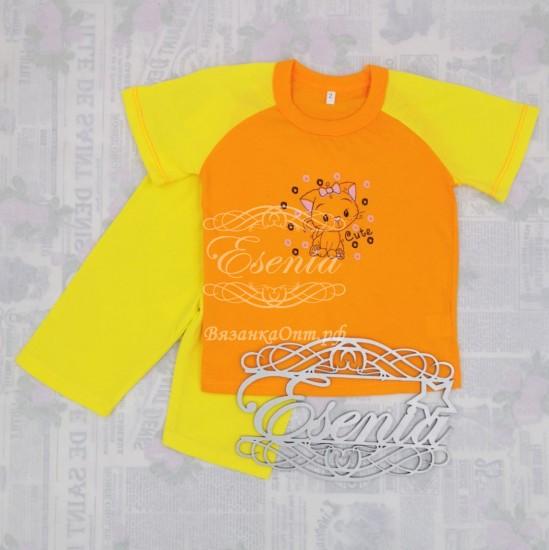Летний костюм (футболка+велосипедки)