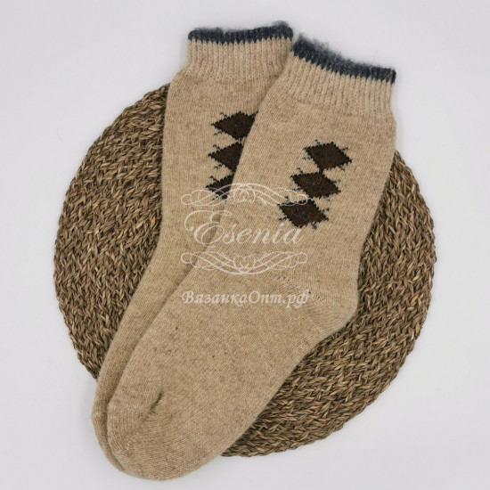 Мужские носки круговой вязки с рисунком