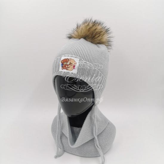 Комплект ( шапка+снуд)